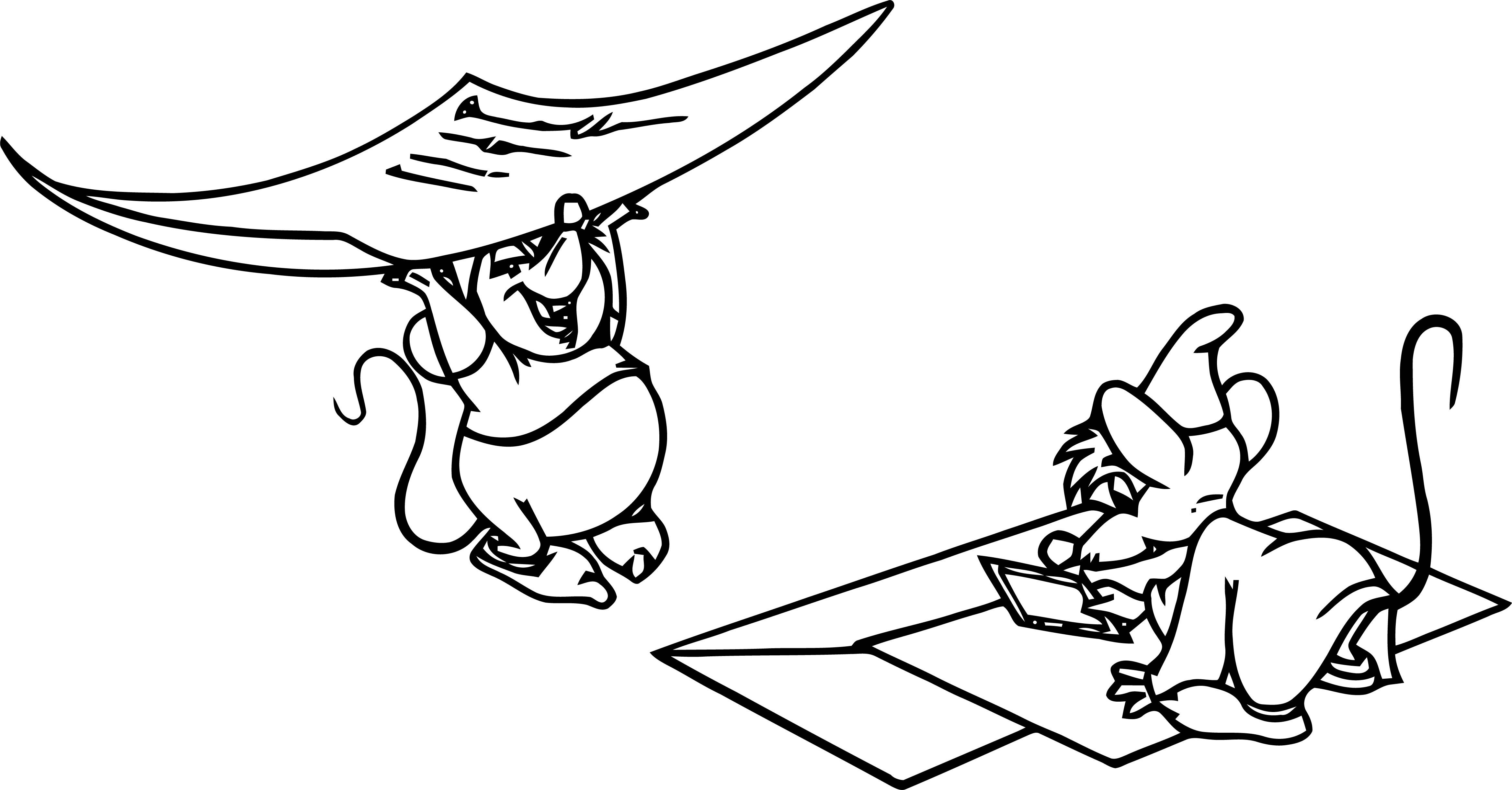 Jaq Gus Invitations Coloring Pages