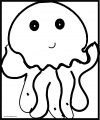 Jellyfish Bold Line Sheet Coloring Page
