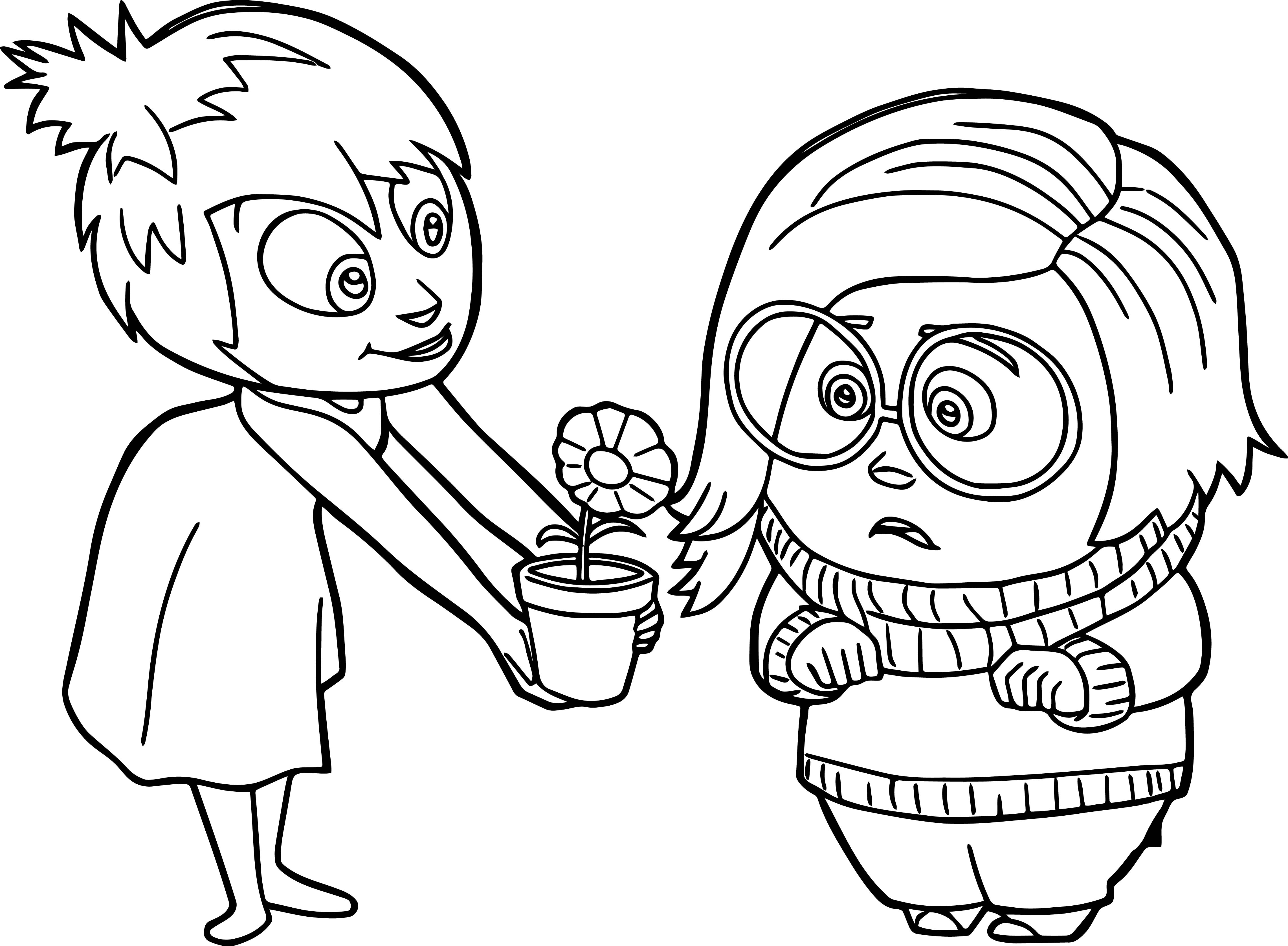 Joy Sadness Flower Coloring Pages