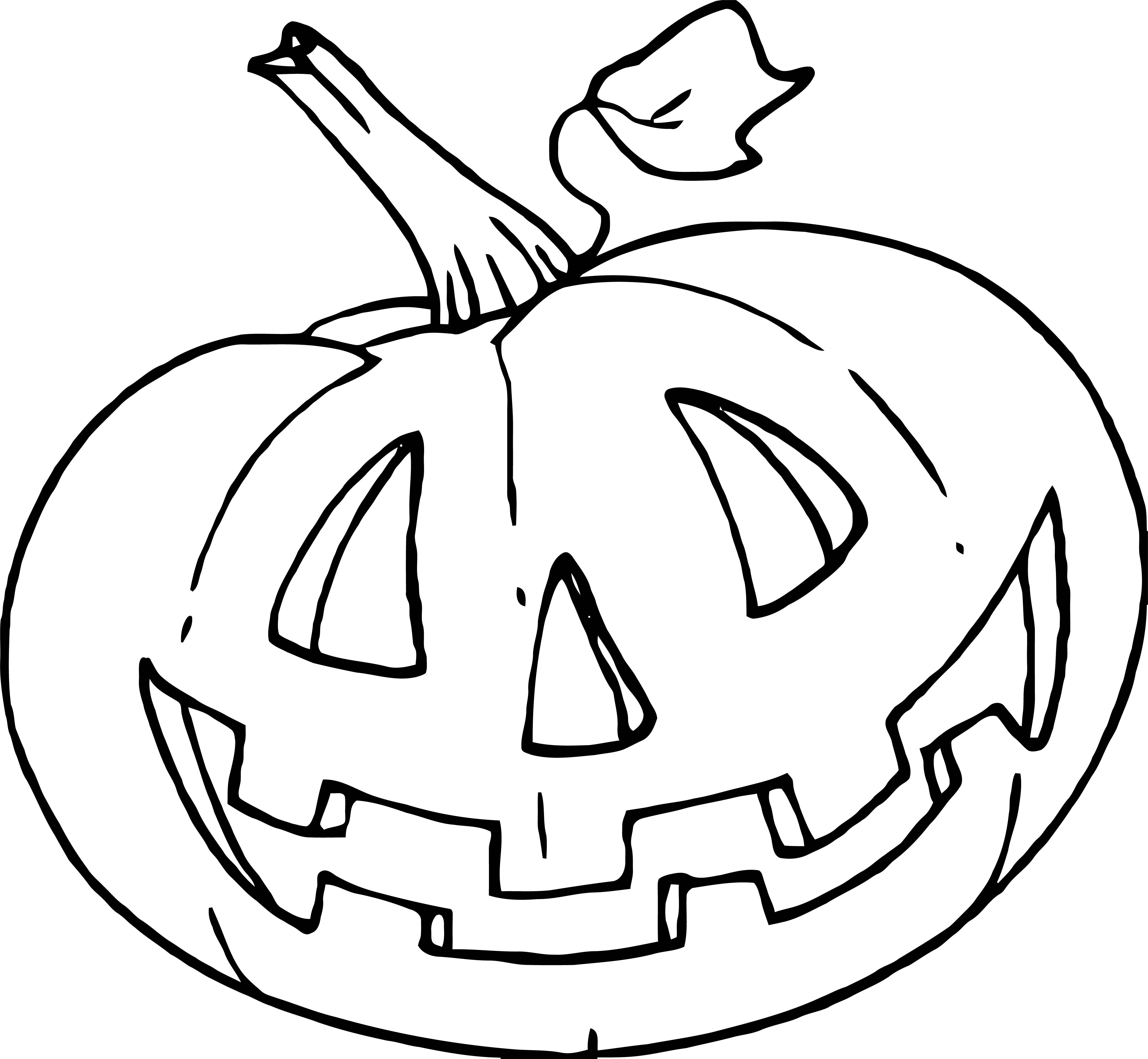 Just Halloween Pumpkin Coloring Page