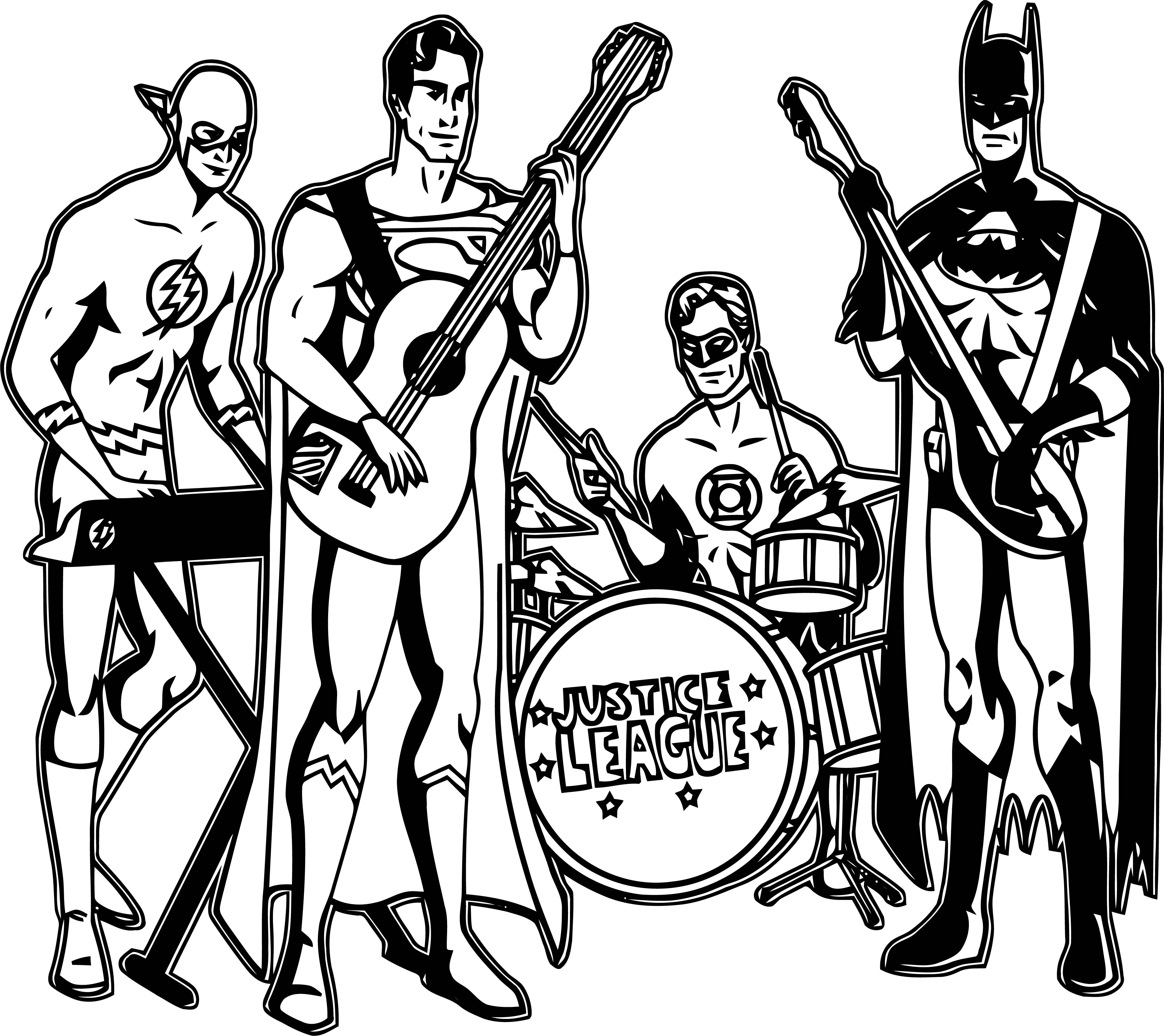 Justice League Coloring Page Wecoloringpage 22
