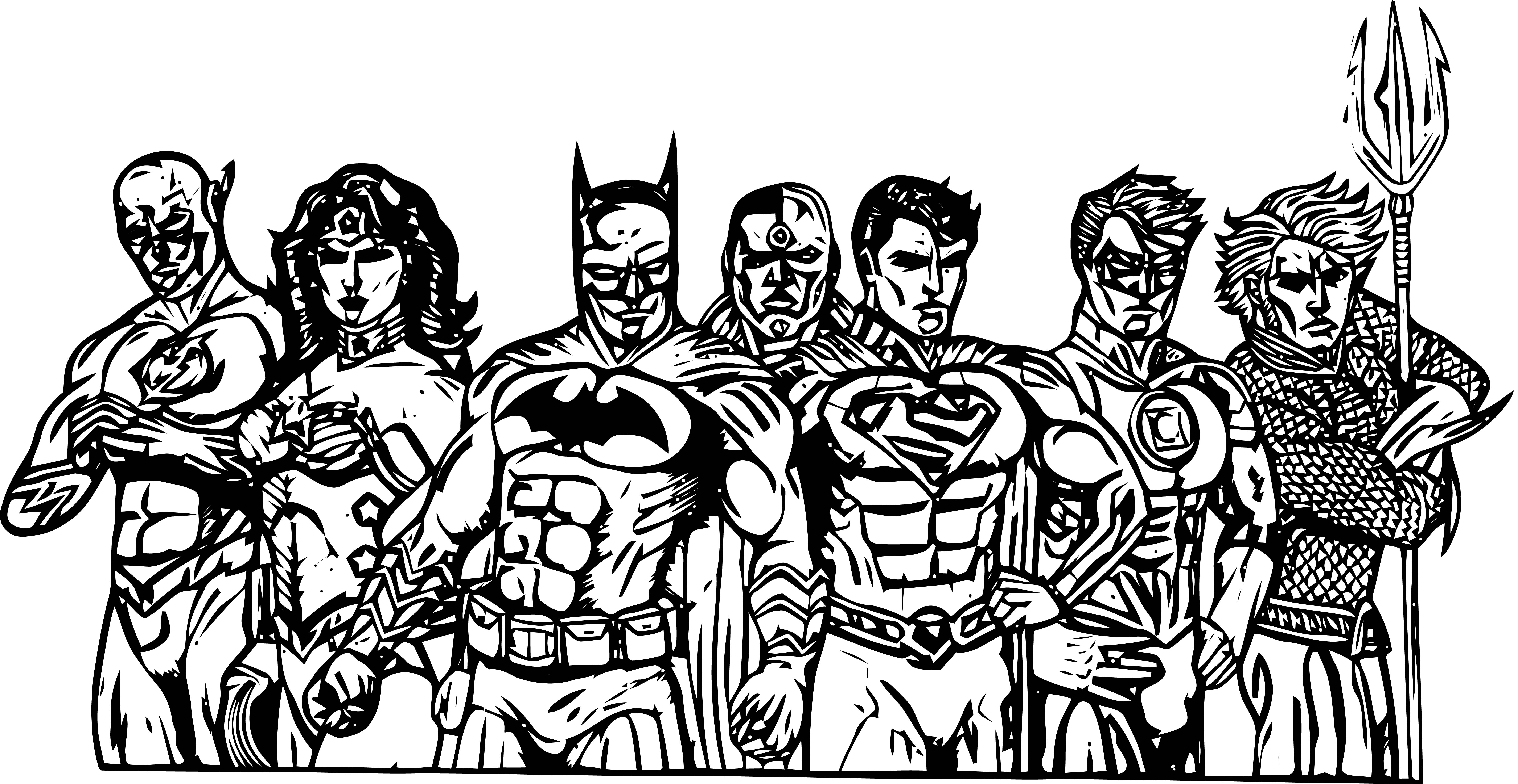 Justice League Coloring Page Wecoloringpage 27
