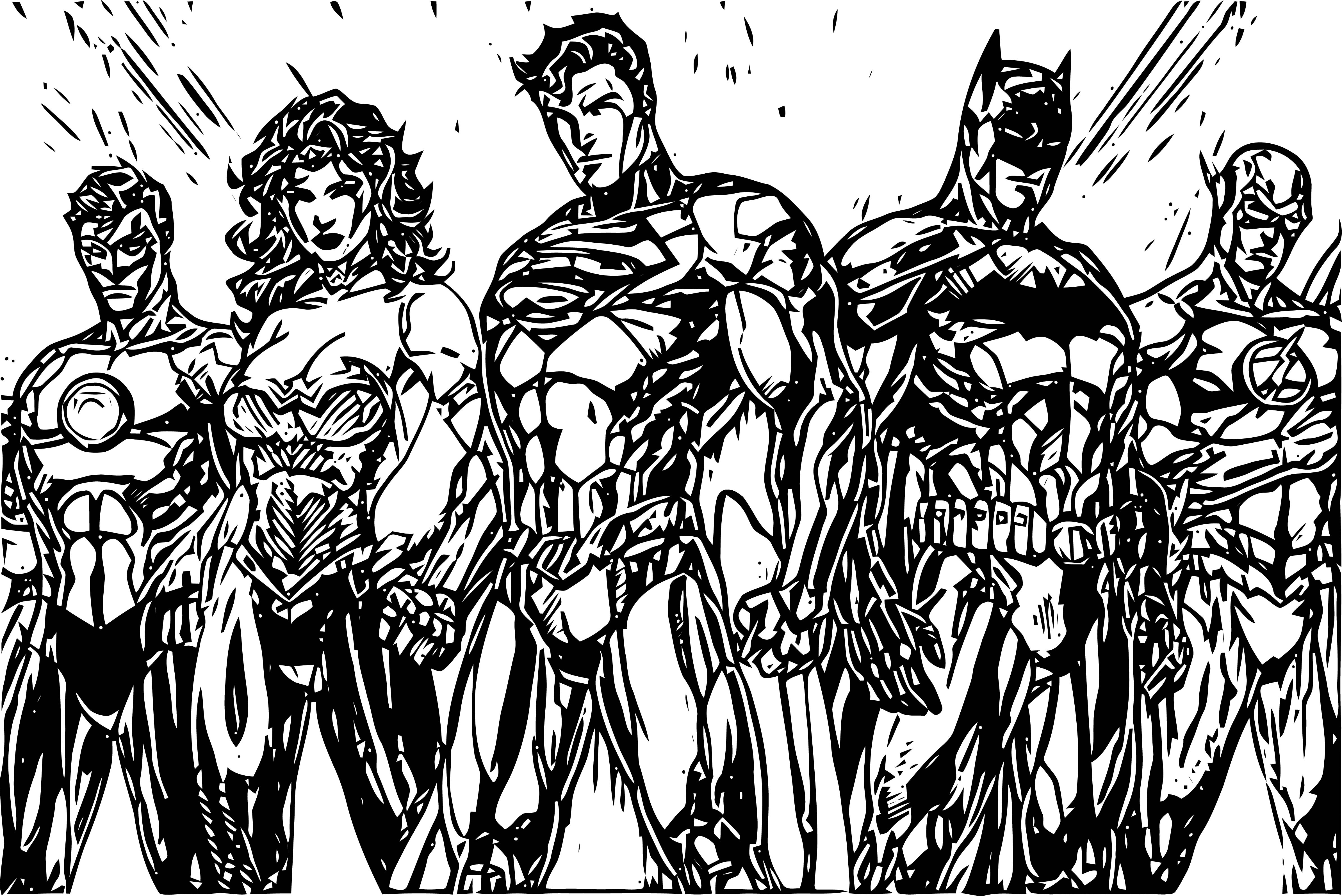 Justice League Coloring Page Wecoloringpage 38 ...