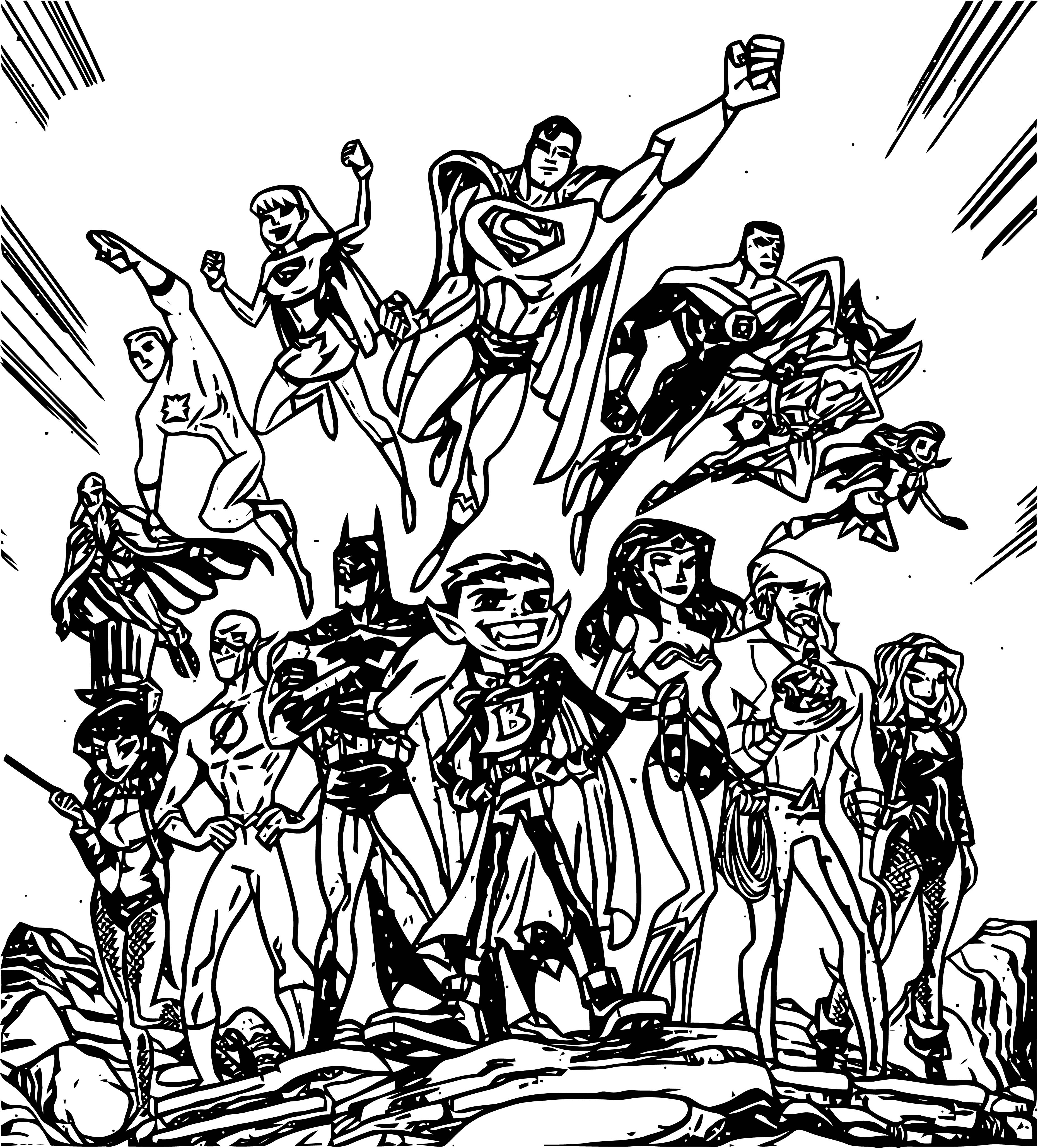 Justice League Coloring Page Wecoloringpage 43