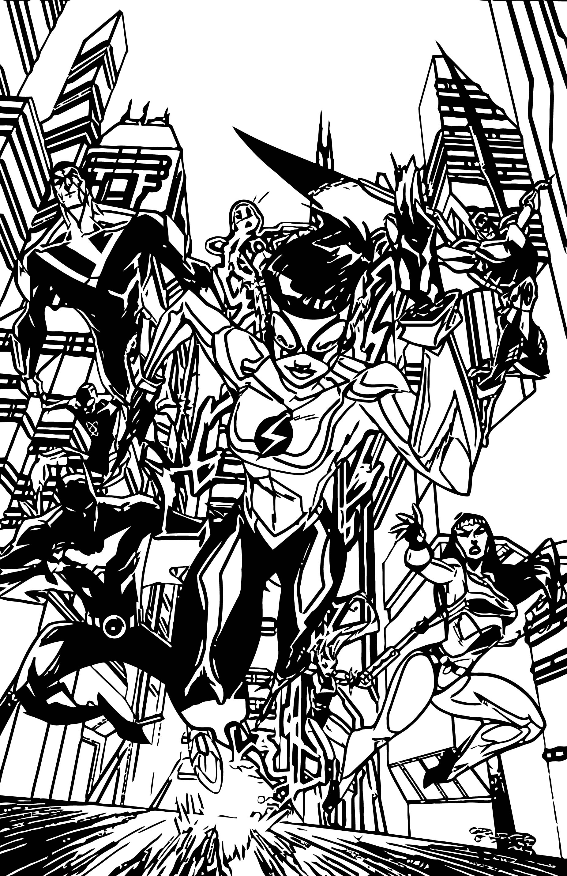 Justice League Coloring Page Wecoloringpage 54