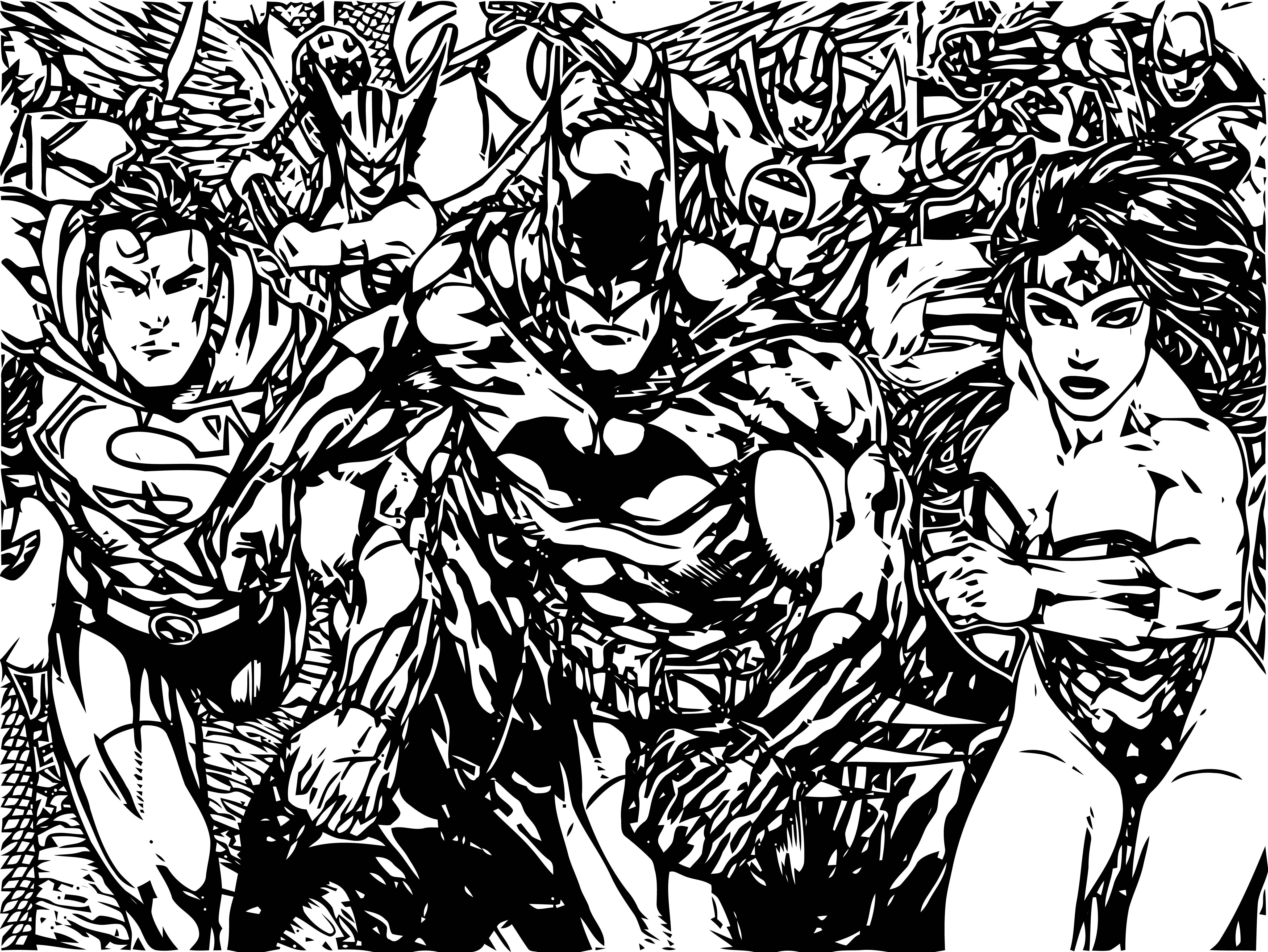 Justice League Coloring Page Wecoloringpage 71