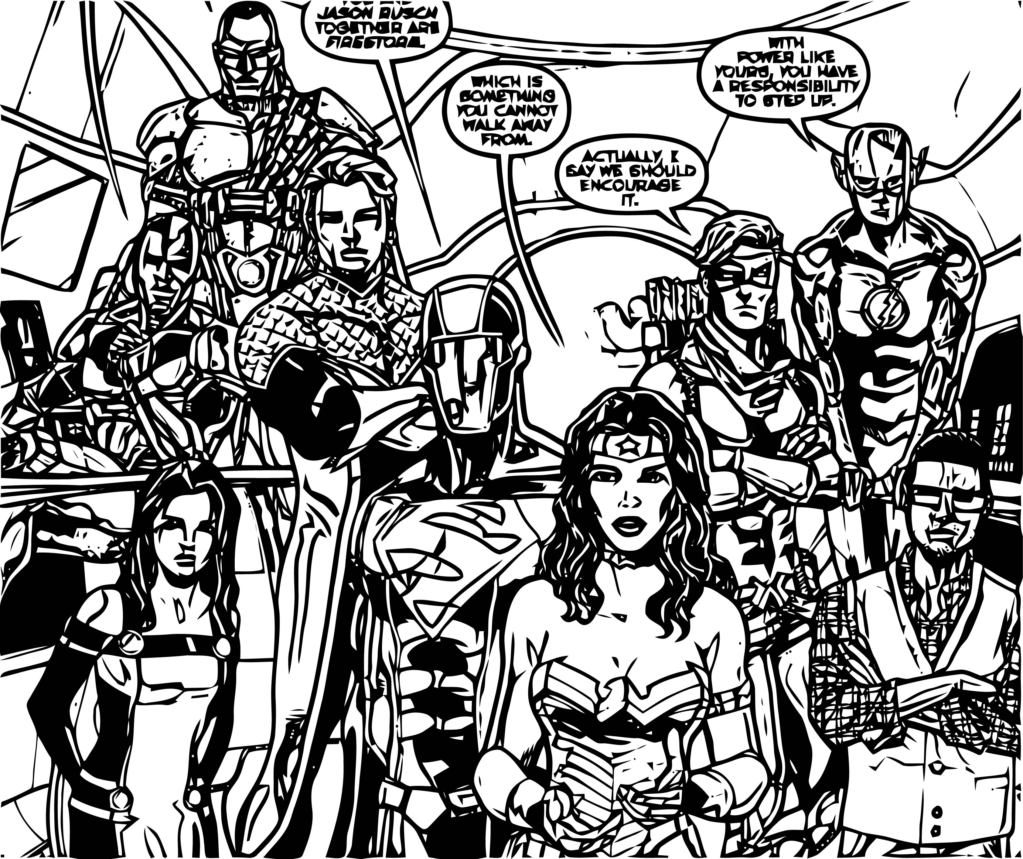 Justice League (Futures End) 001 Coloring Page