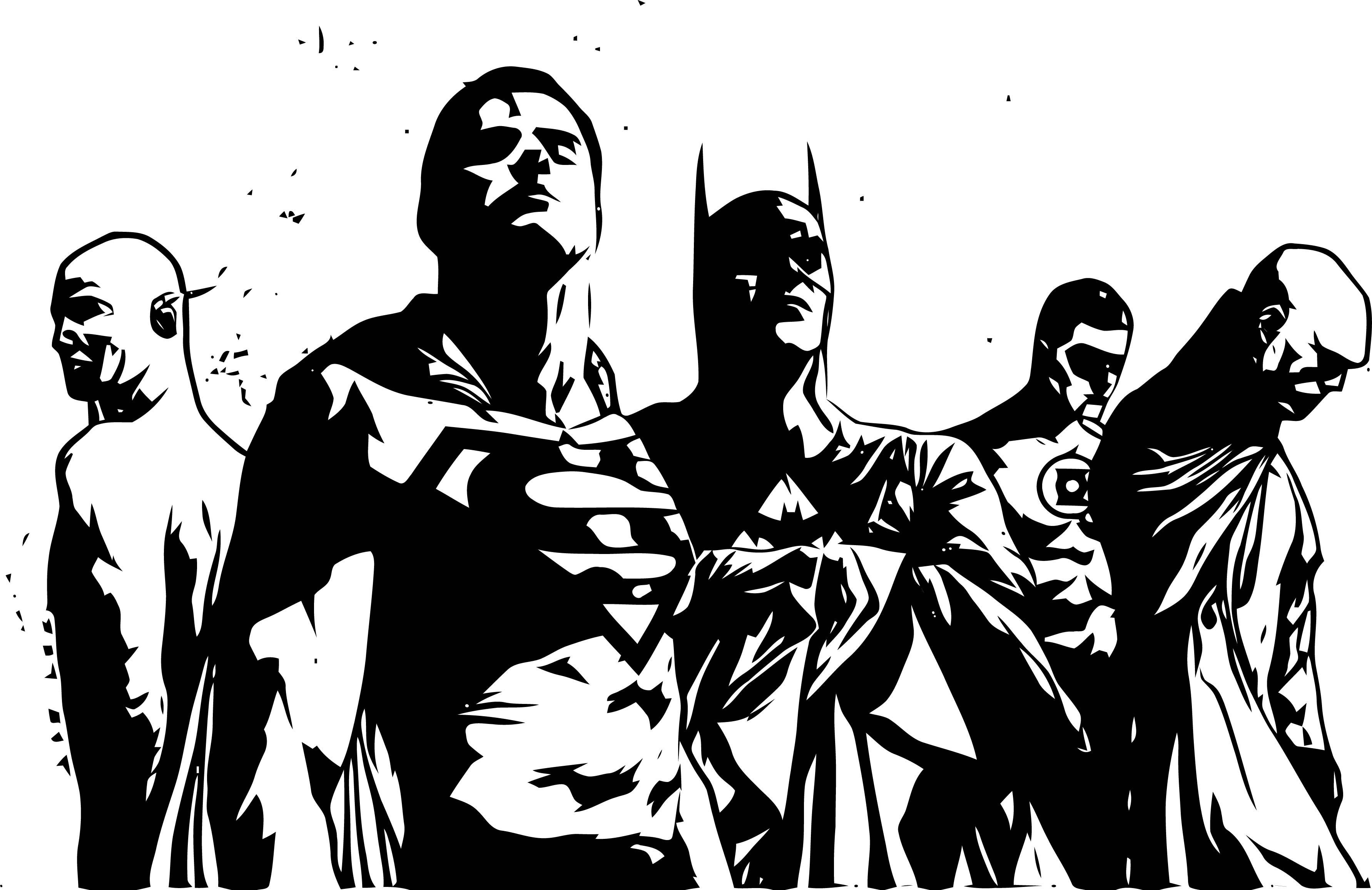 Justice League Now Coloring Page
