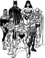 Justice League Together Coloring Page