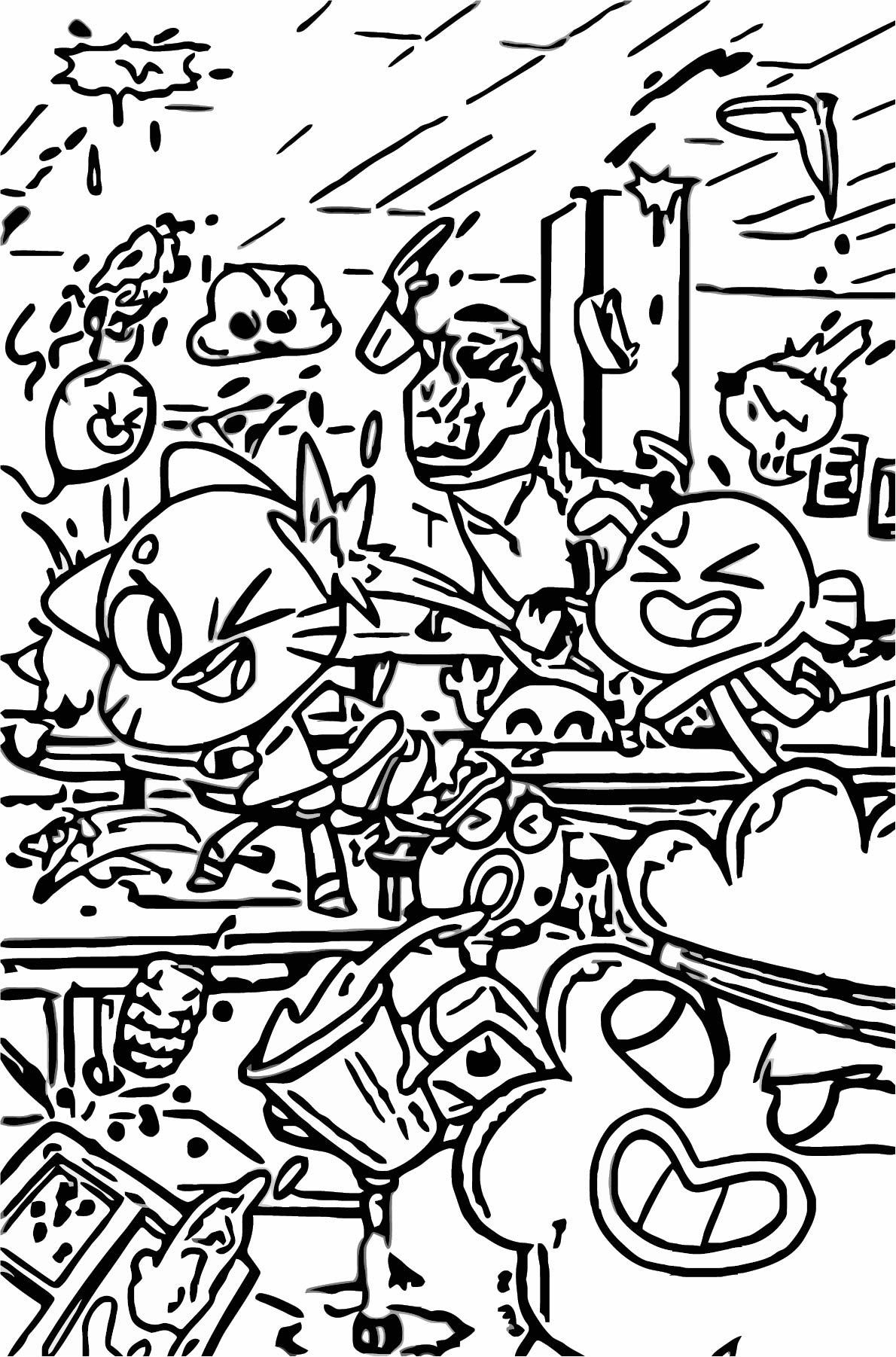 KABOOM Amazing World Of Gumball Class Coloring Page ...