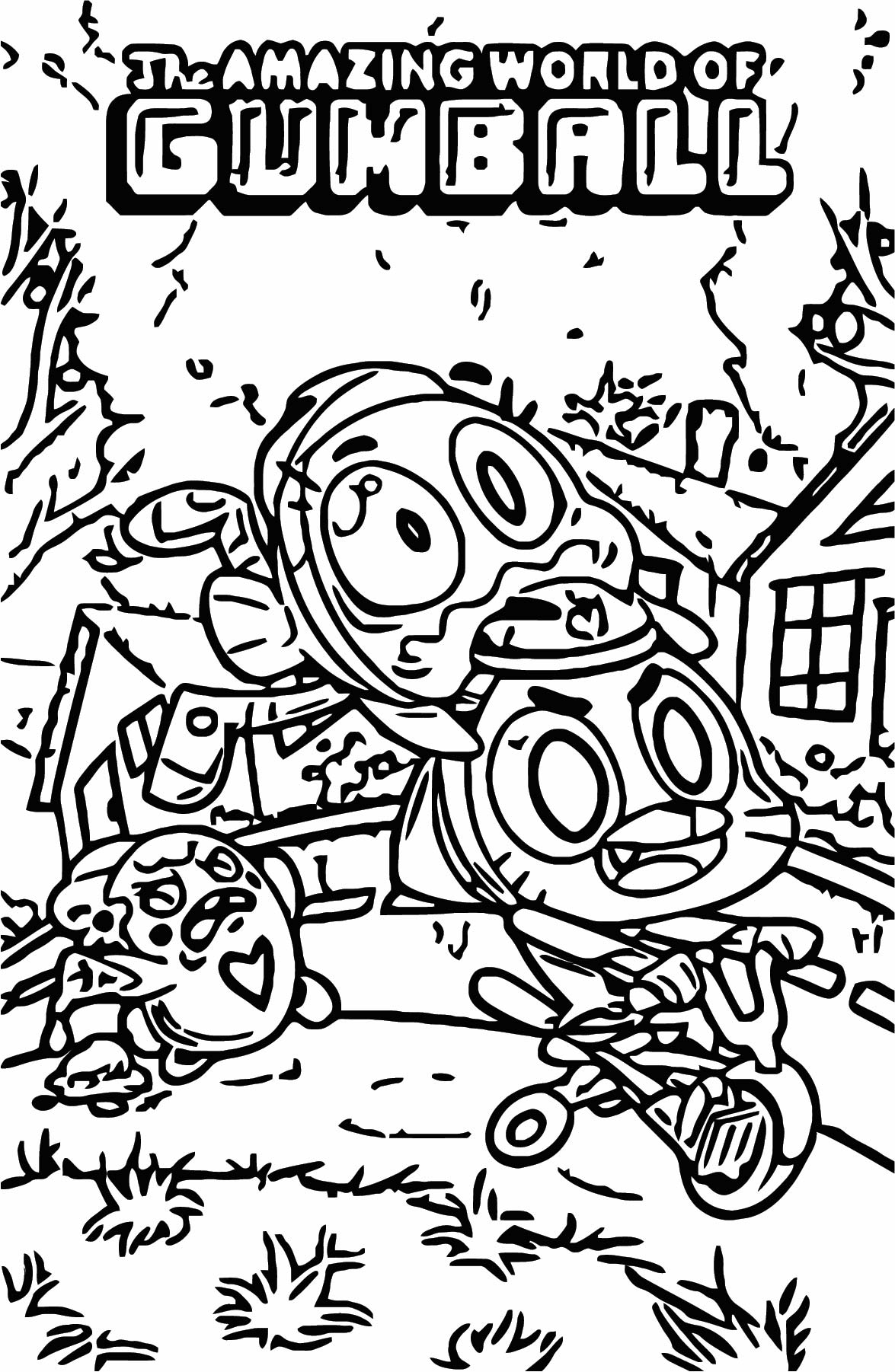KABOOM Amazing World Of Gumball Coloring Page