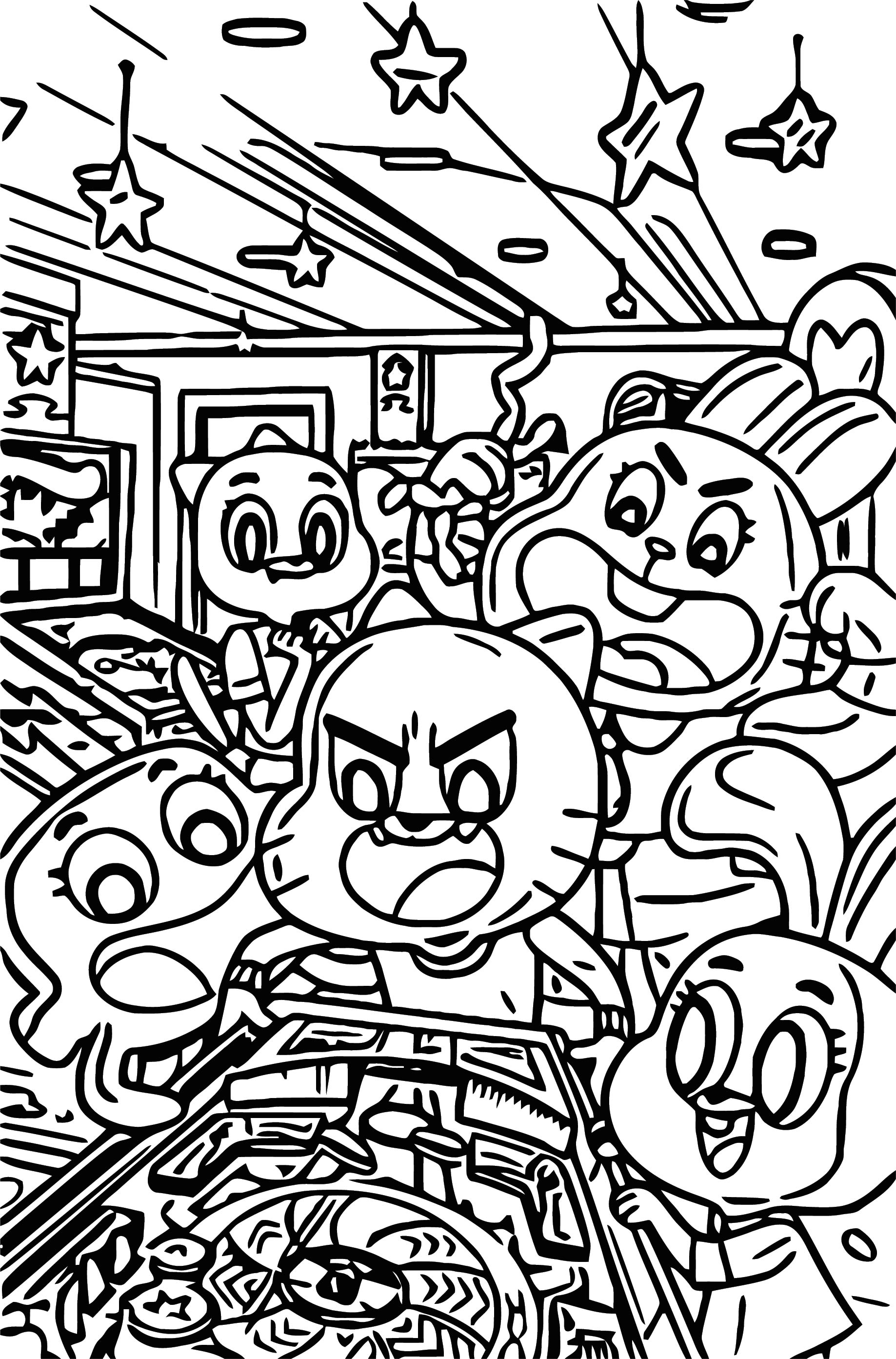 Kaboom Gumball Coloring Page