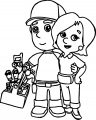 Kelly And Manny Coloring Page