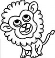 Kid Lion Look Up Coloring Page