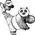 Kung Fu Panda Big And Small Coloring Page