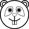 Kung Fu Panda Comic Cartoon Face Coloring Page