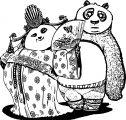 Kung Fu Panda Couple Coloring Page