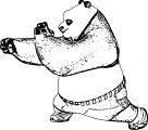 Kung Fu Panda Hand Coloring Page