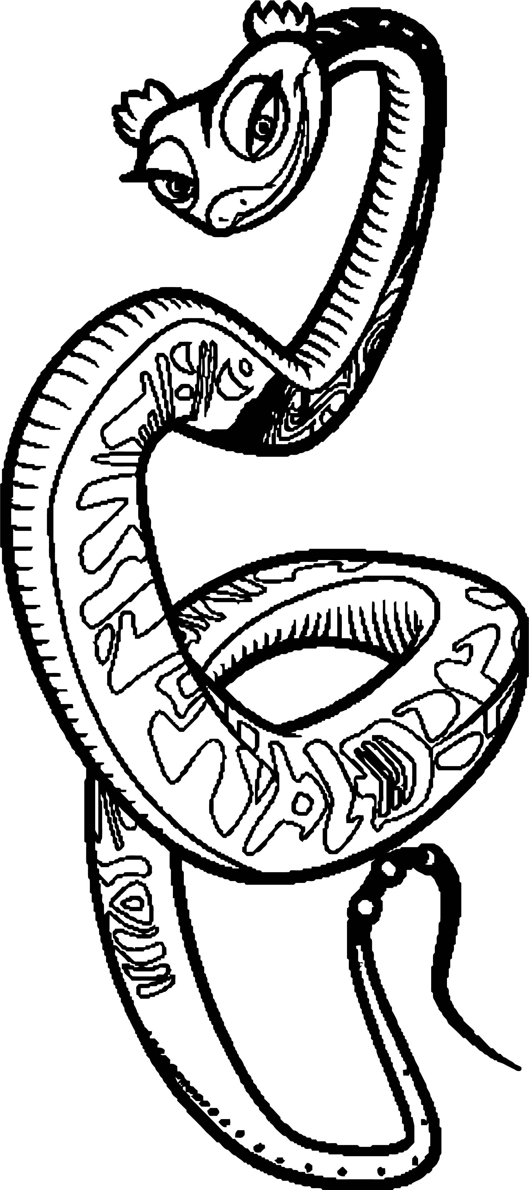 Kung Fu Panda Helix Snake Coloring Page