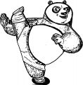 Kung Fu Panda My Foot Coloring Page