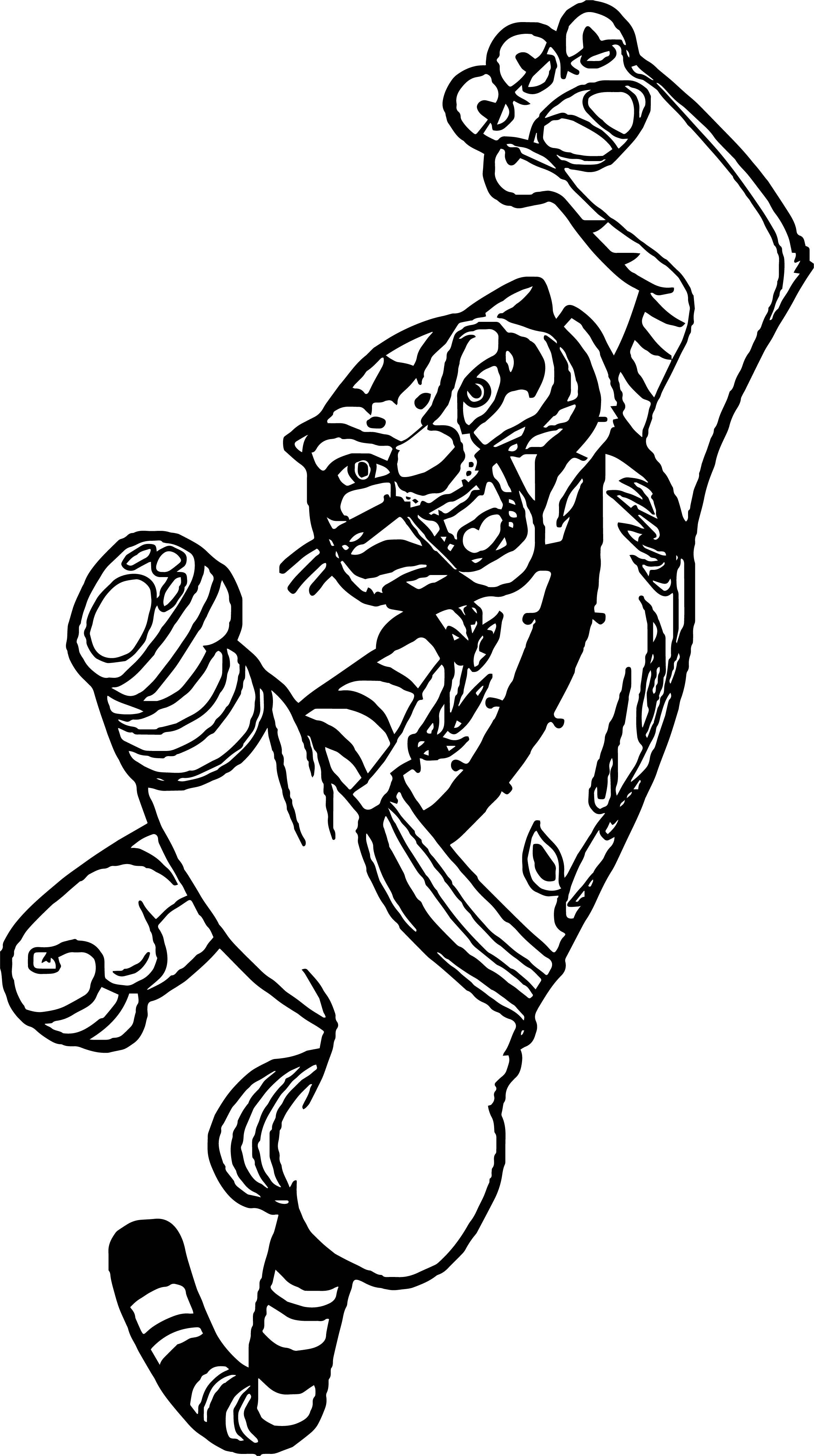 Kung Fu Panda Tiger Kick Coloring Page