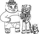 Kung Fu Panda Tipo Family Coloring Page