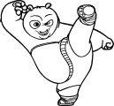 Kung Fu Panda Up Kick Coloring Page