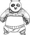 Kung Fu Panda We Front View Coloring Page