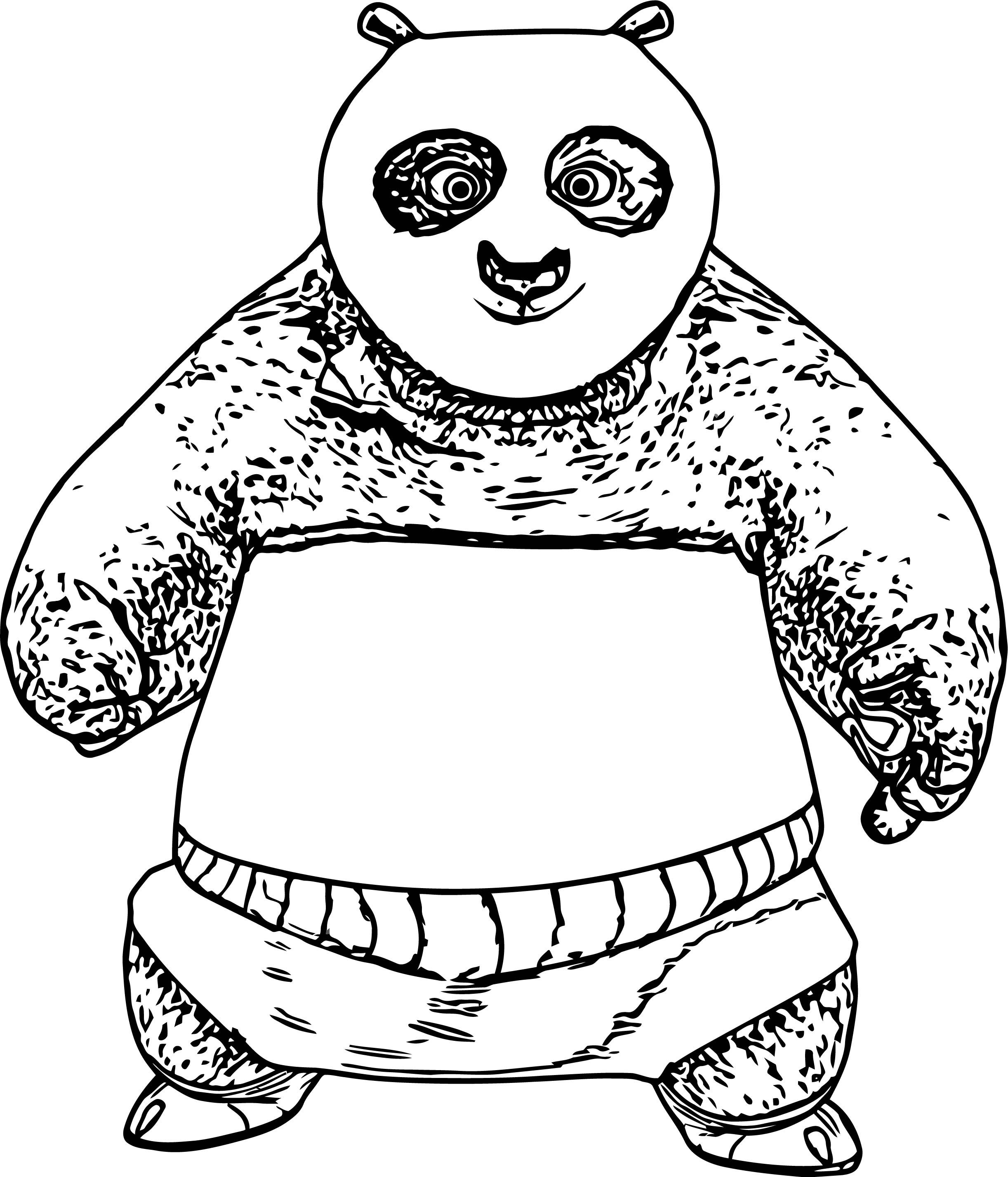 Kung Fu Panda We Front View Coloring Page