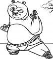 Kung Fu Start Panda Coloring Page