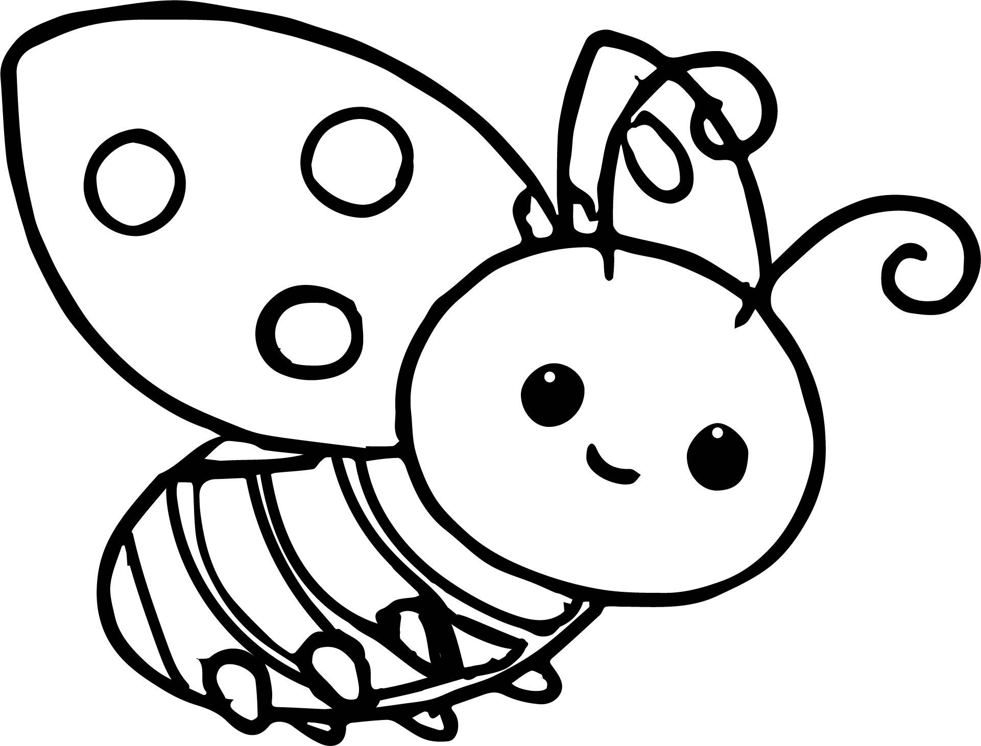 Ladybug Bee Coloring Page