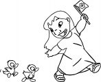 Lilo And Duck Walking Coloring Page