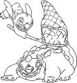 Lilo And Stitch Catch You Coloring Pages