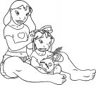 Lilo And Stitch Hair Brush Coloring Pages