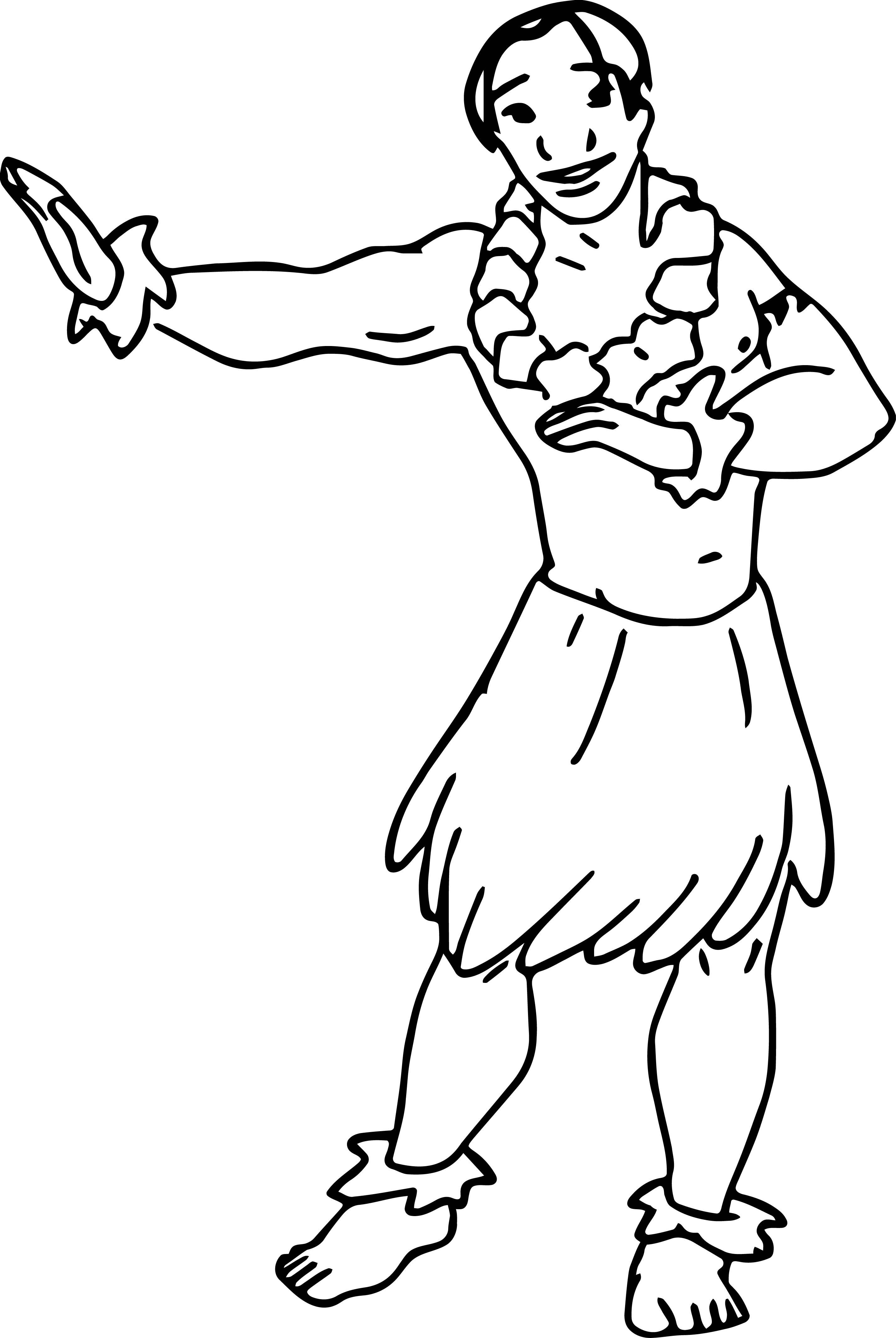 Lilo And Stitch Lei Hulo Dance Coloring Pages