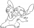 Lilo And Stitch My Laser Gun Coloring Pages