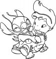 Lilo And Stitch Playful Turn Coloring Pages