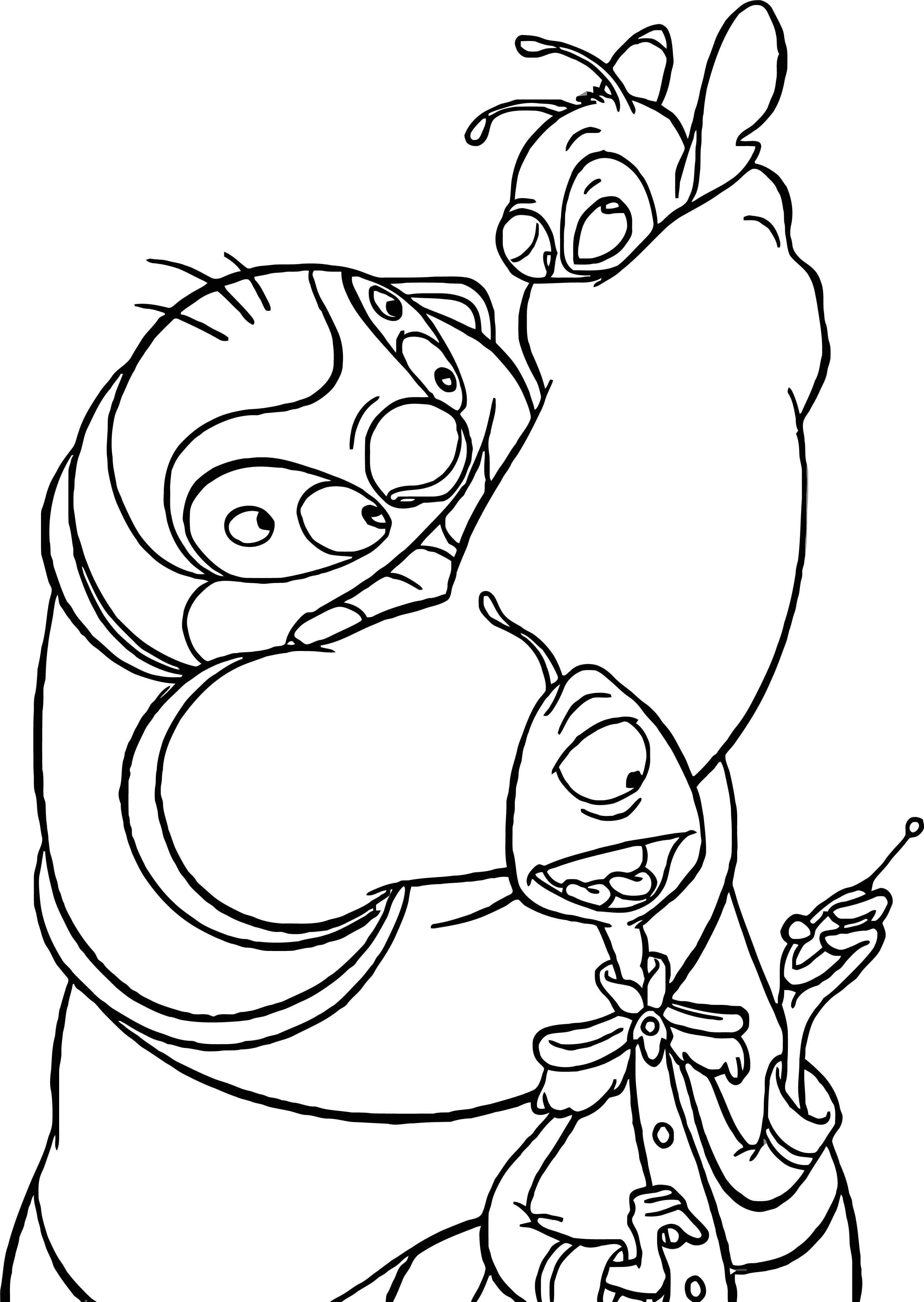 Lilo And Stitch Pleakley Jumbo Coloring Pages
