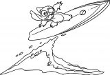 Lilo And Stitch Surf Coloring Pages