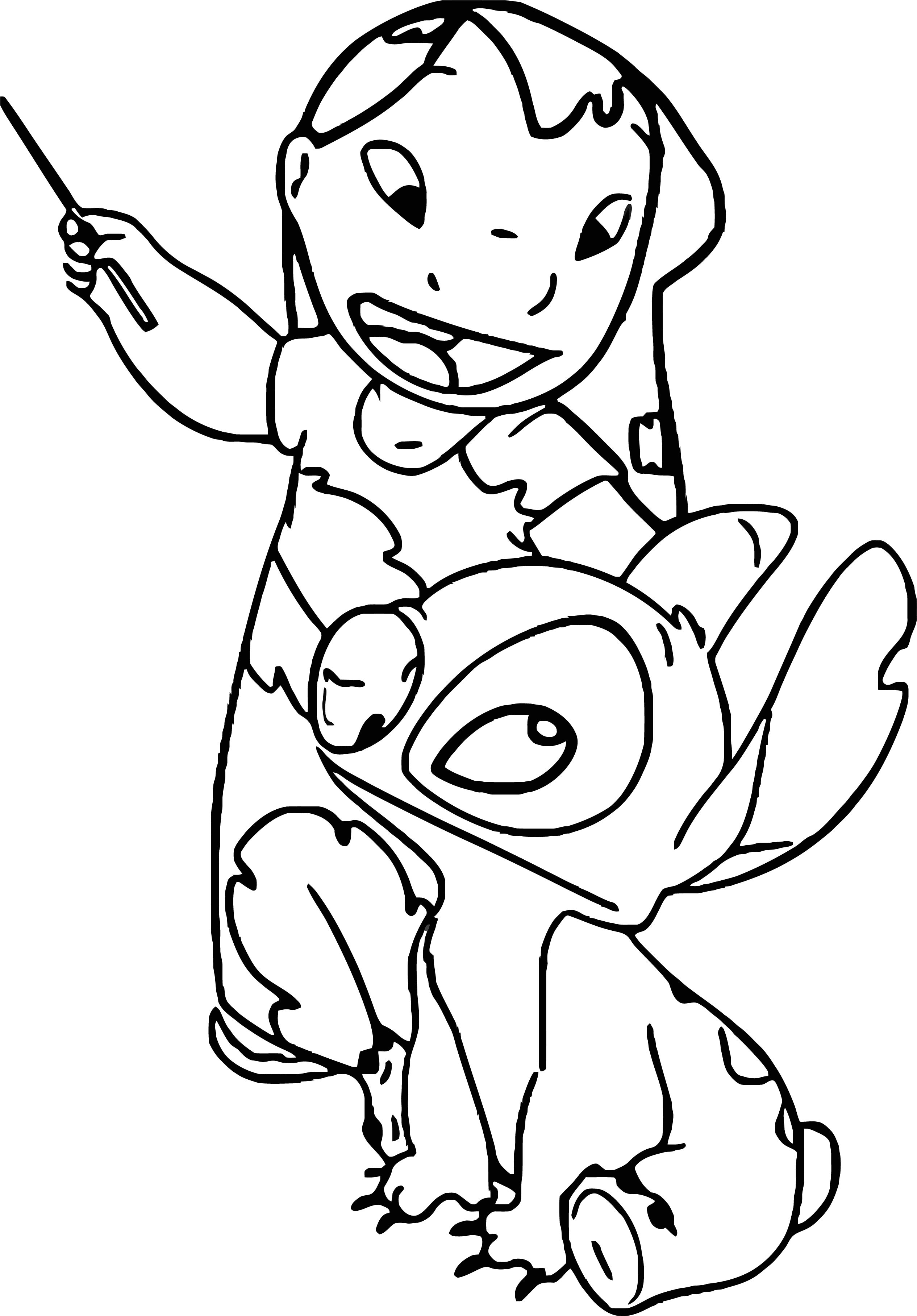 Lilo And Stitch Teach Time Coloring Pages