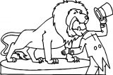 Lion And Man Dangerous Motion Coloring Page