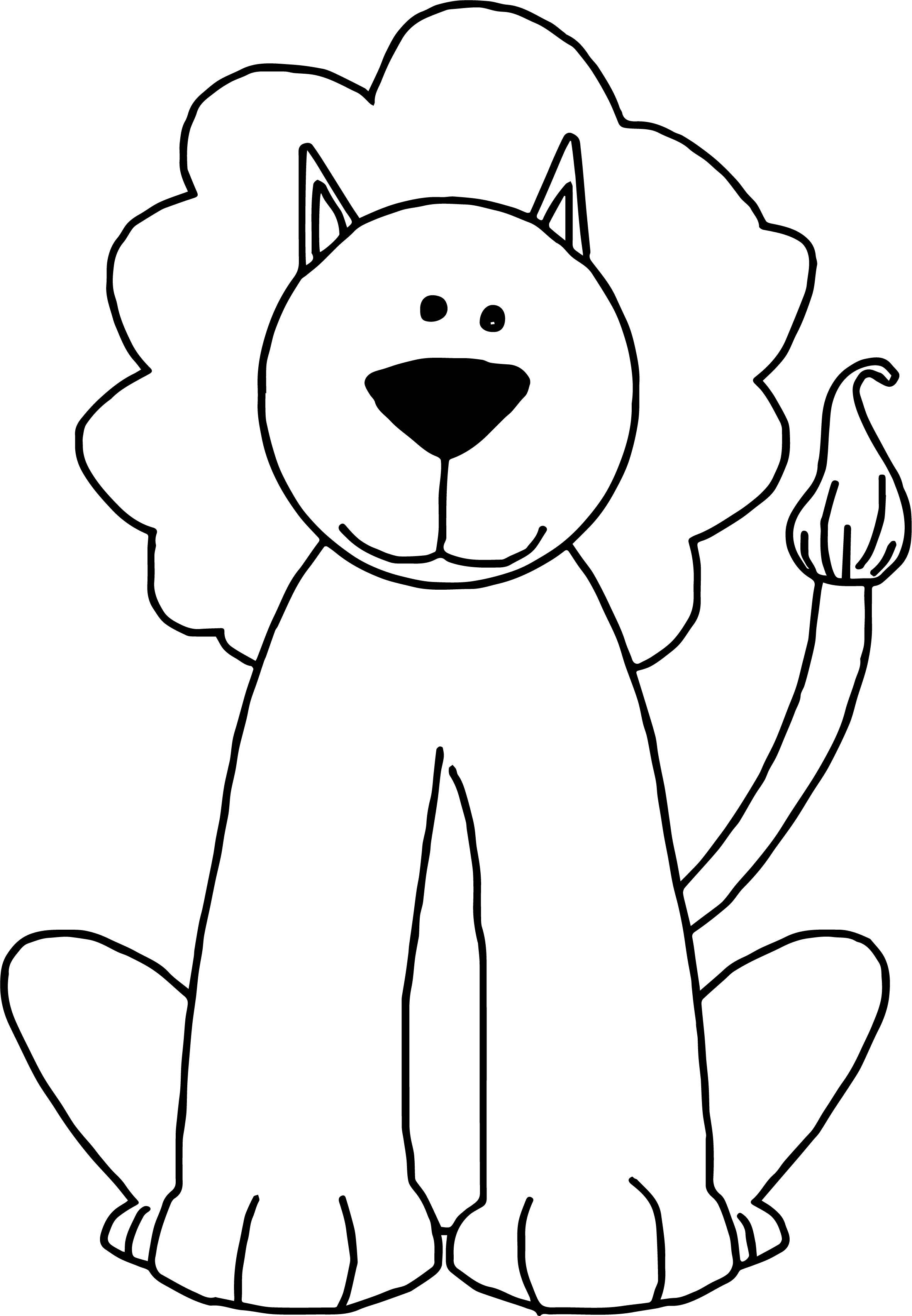 Lion Coloring Page 03