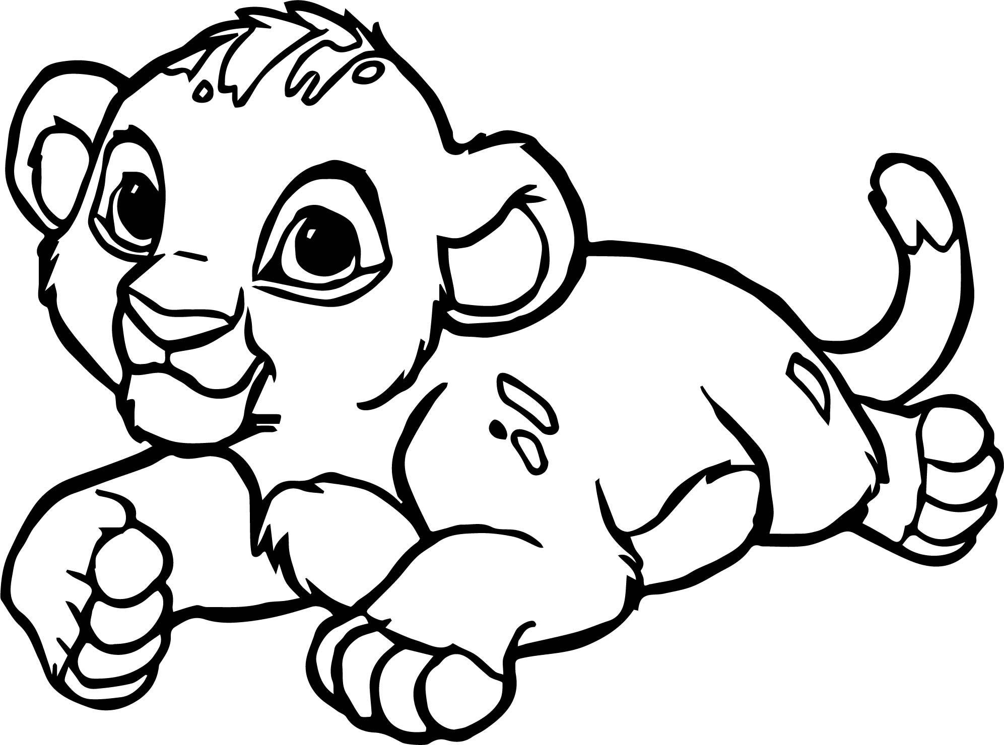 Lion Coloring Page 04