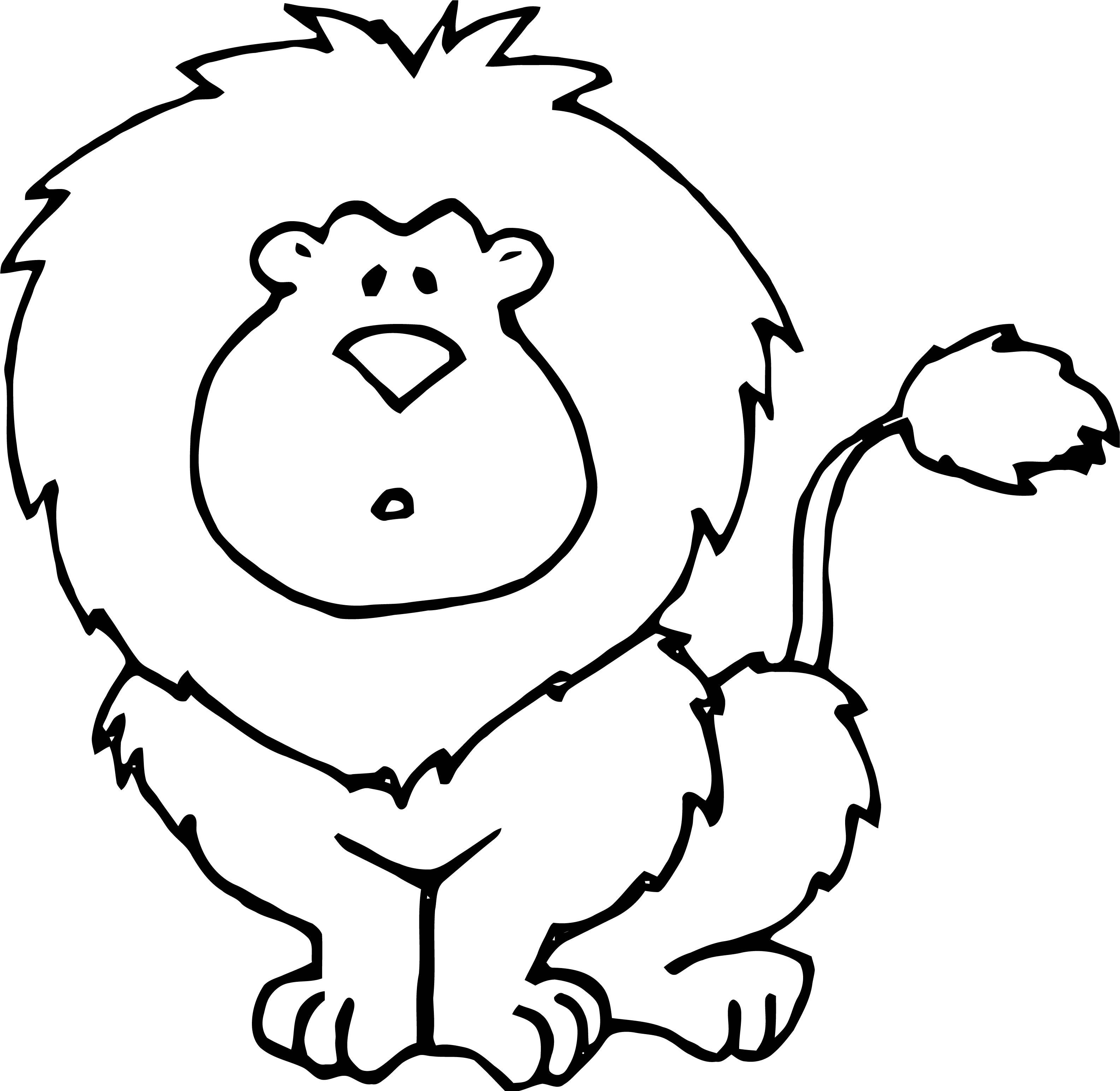 Lion Coloring Page 08
