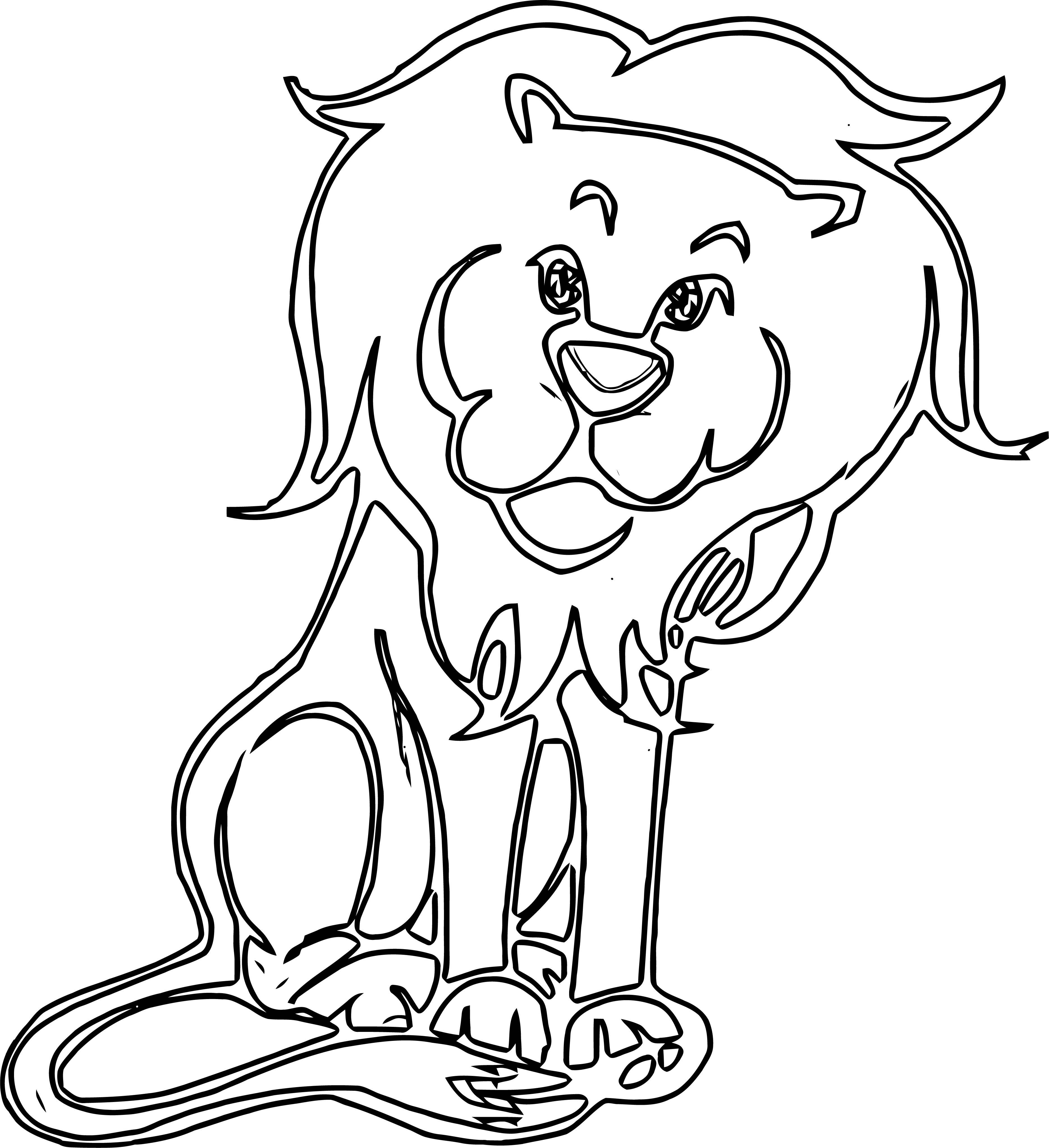 Lion Coloring Page 37
