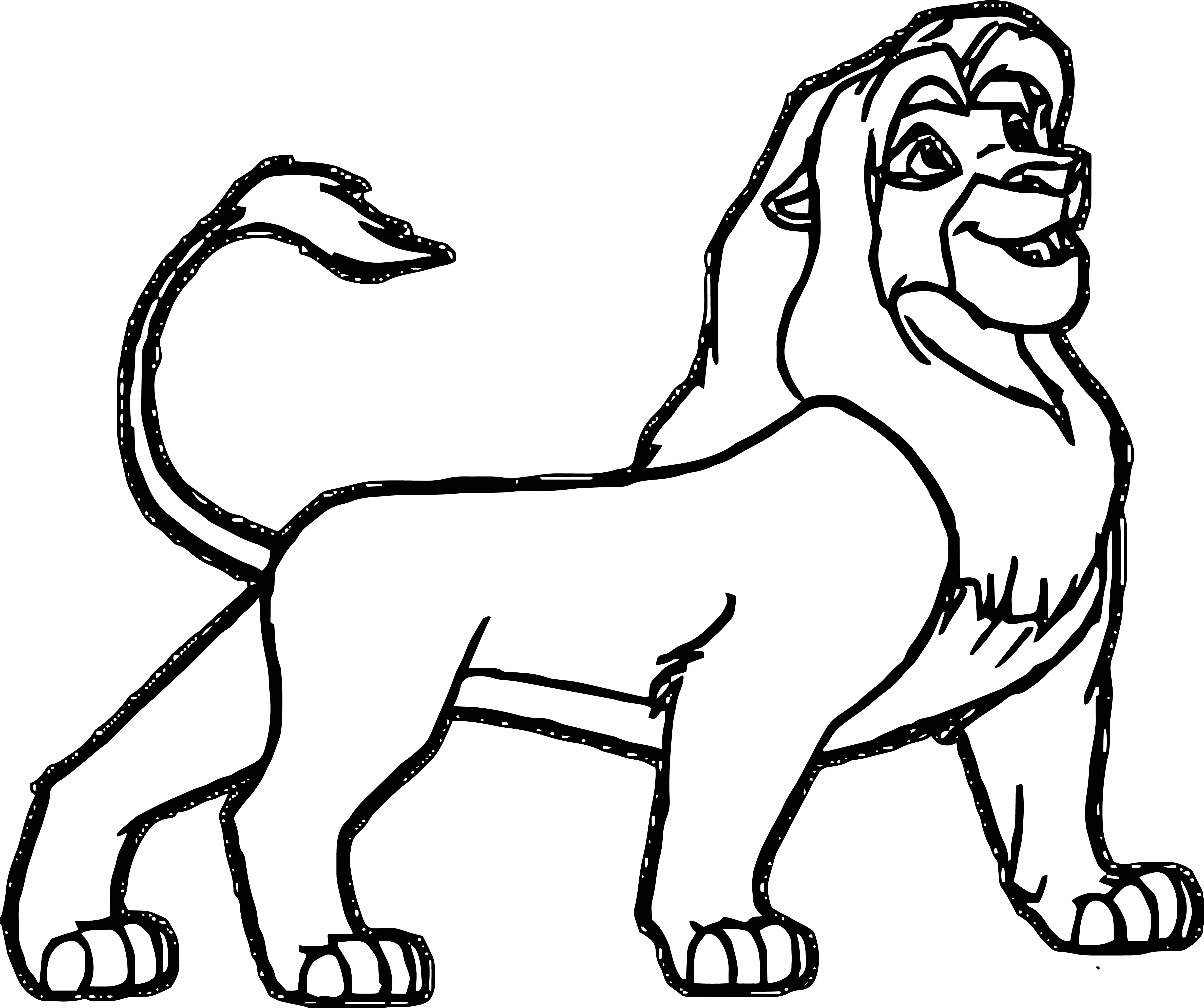 Lion Coloring Page 50