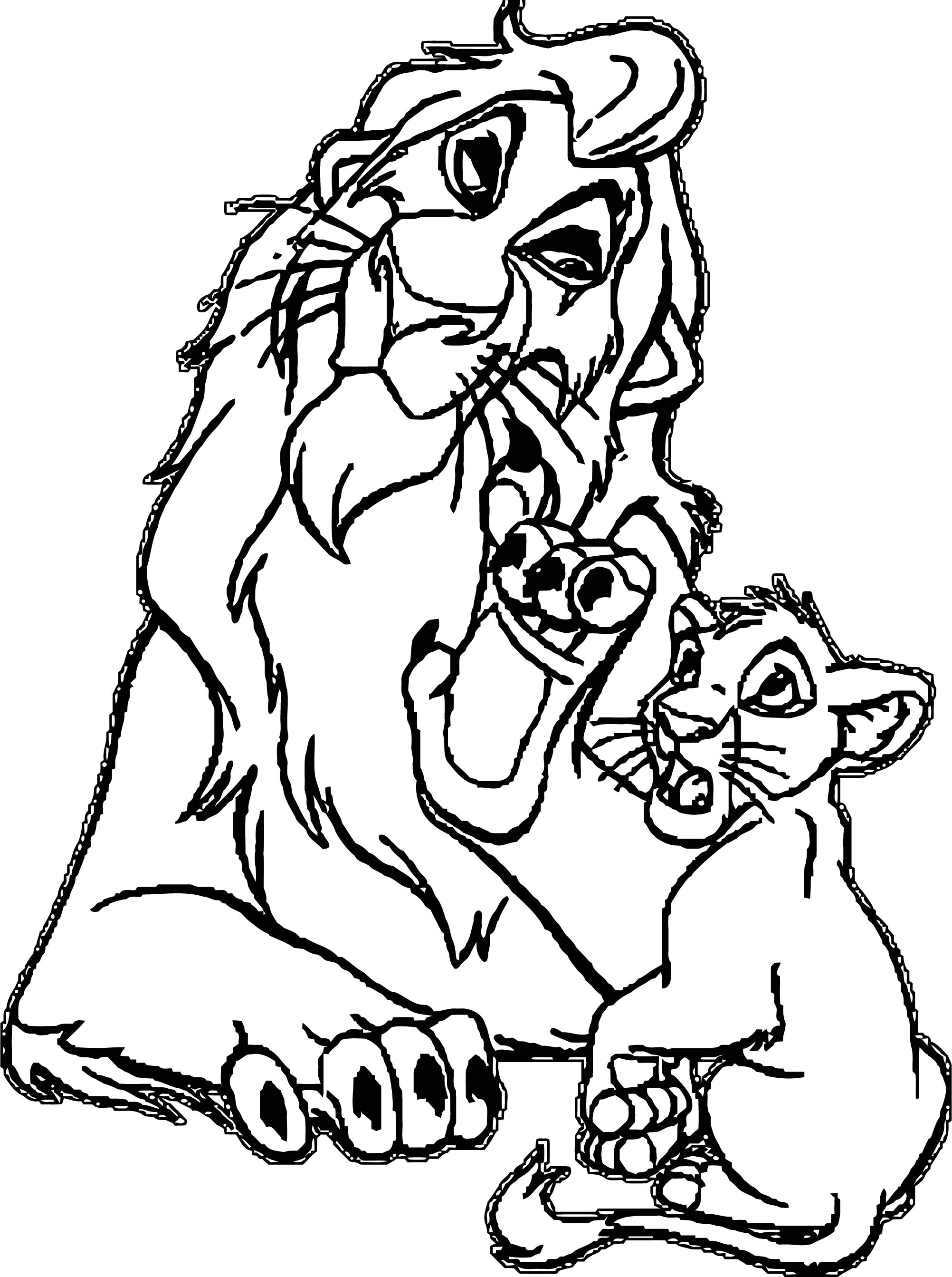 Lion Coloring Page 52