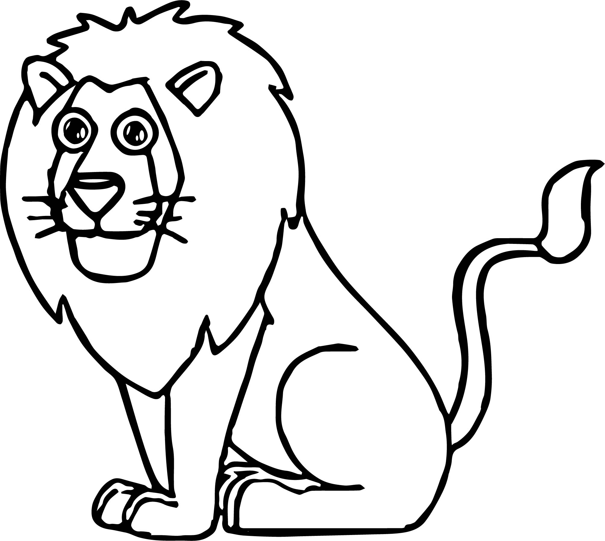 Lion Coloring Page 69