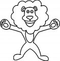 Lion Happy Now Coloring Page