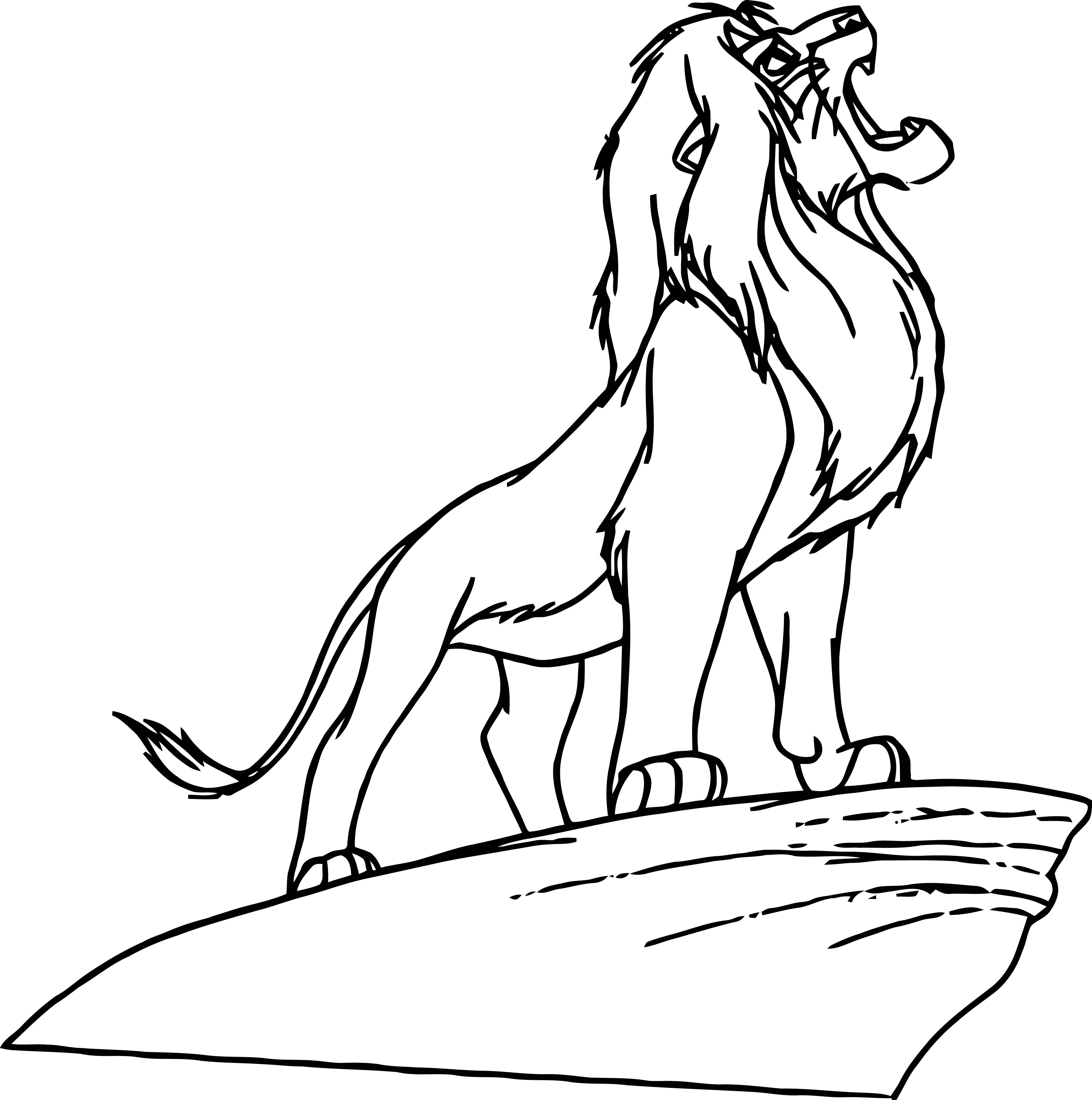 Lion On Stone Coloring Page